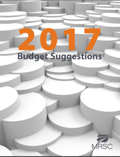 Cover of 2017 BUDGET SUGGESTIONS