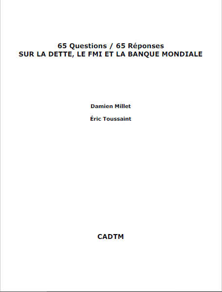 Cover of 65 QUESTIONS 65 REPONSES SUR LA DETTE FMI BN
