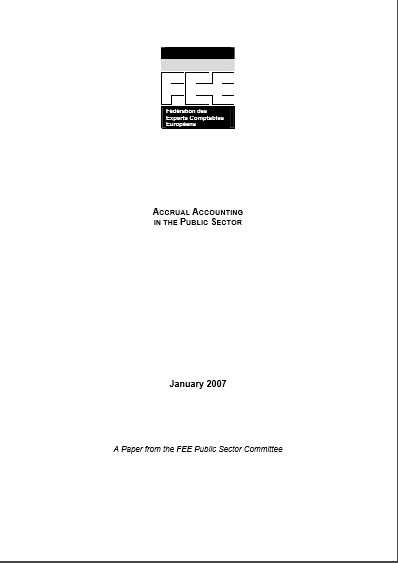 Cover of ACCRUAL ACCOUNTING IN THE PUBLIC SECTOR