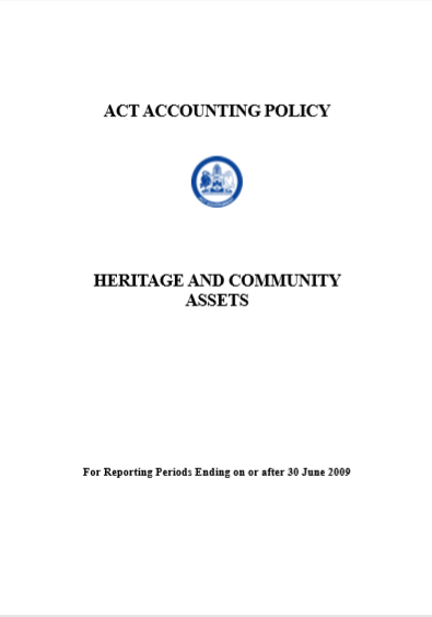 Cover of ACT ACCOUNTING POLICY