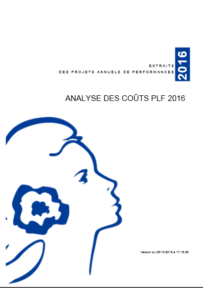Cover of ANALYSE DES COUTS PLF 2016