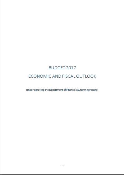 Cover of BUDEGET 2017 ECONOMIC AND FISCAL OUTLOOK