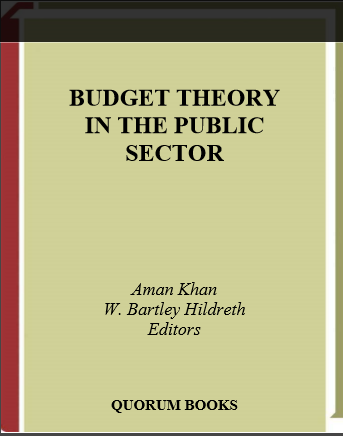 Cover of BUDGET THEORY IN THE PUBLIC SECTOR
