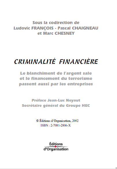 CRIMINALITE FINANCIERE