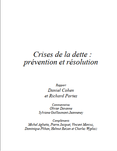 Cover of CRISES DE LA DETTE PREVENTION ET RESOLUTION