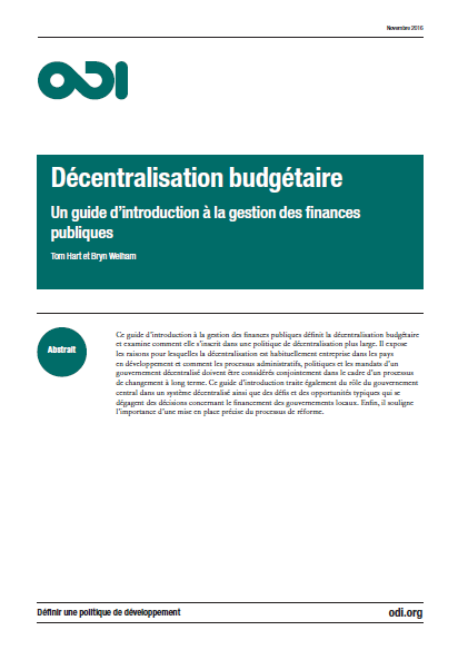 Cover of DECENTRALISATION BUDGETAIRE