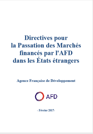Cover of DIRECTIVE POUR LA PASSATION DES MARCHES FINANCES PAR LAFD