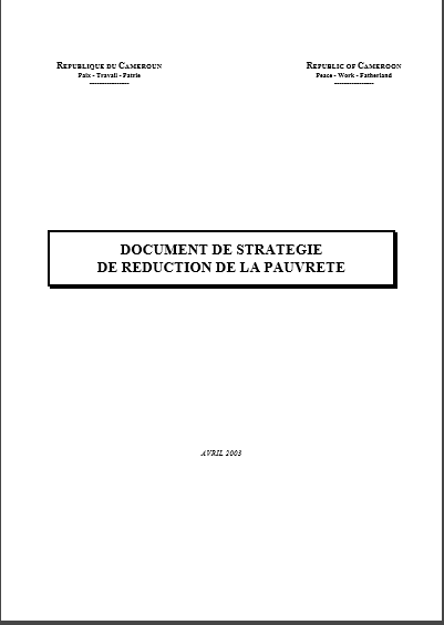 DOCUMENT DE STRATEGIE DE REDUCTION DE LA PAUVRETE