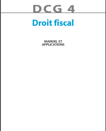 DROIT FISCAL MANUEL ET APPLICATIONS 2018