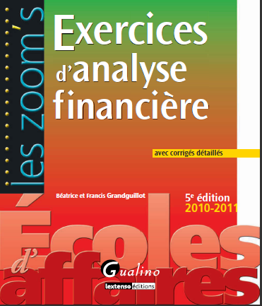 Cover of EXERCICES DANALYSE FINANCIERE 5ED