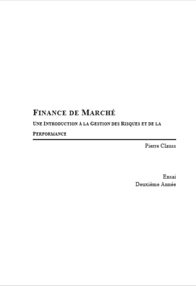 FINANCES DE MARCHE