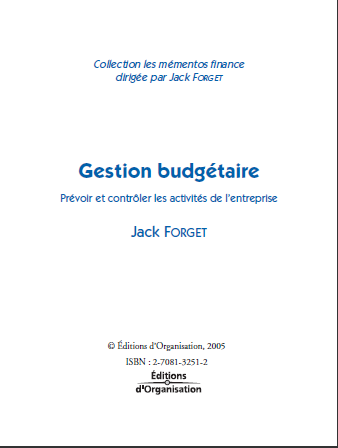 Cover of GESTION BUDGETAIRE PREVOIR ET CONTROLER