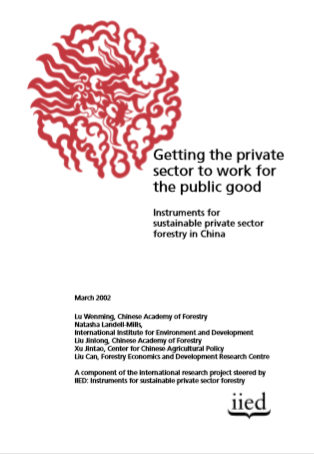GETTING THE PRIVATE SECTOR TO WORK FOR PUBLIC GOOD