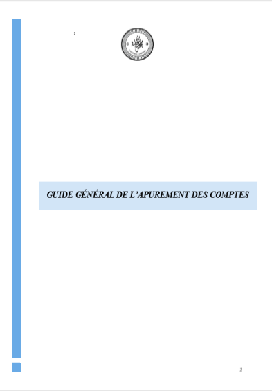 GUIDE GENERAL DE LAPPUREMENT DES COMPTES