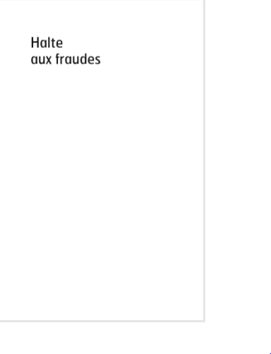 Cover of HALTE AUX FRAUDES