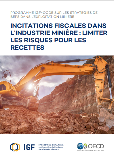 Cover of INCITATIONS FISCALES DANS LINDUSTRIE MINIERE