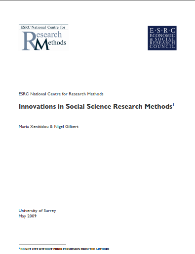 INOVATION IN SOCIAL SCIENCES RESEARCH METHOD