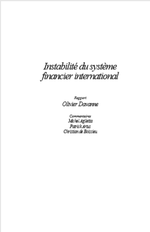 Cover of INSTABILITE DU SYSTEME FINANCIER INTERNATIONAL