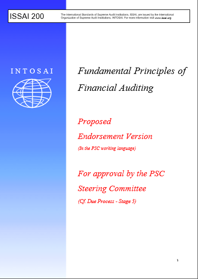 Cover of ISSAI 200 FUNDAMENTAL PRINCIPLES OF PUBLIC SECTOR AUDITING