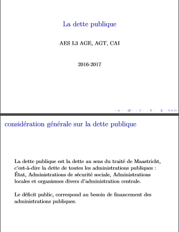 Cover of LA DETTE PUBLIQUE