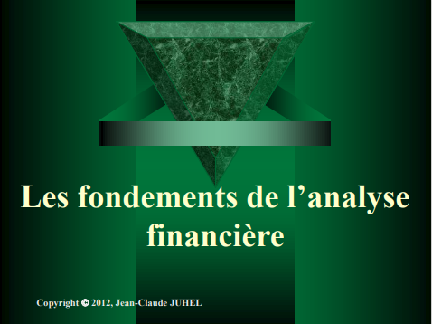 LES FONDEMENTS DE LANALYSE FINANCIERE