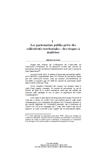 Cover of LES PARTENARIATS PUBLIC PRIVE DES COLLECTIVITES TERRITORIALES DECENTRALISEES