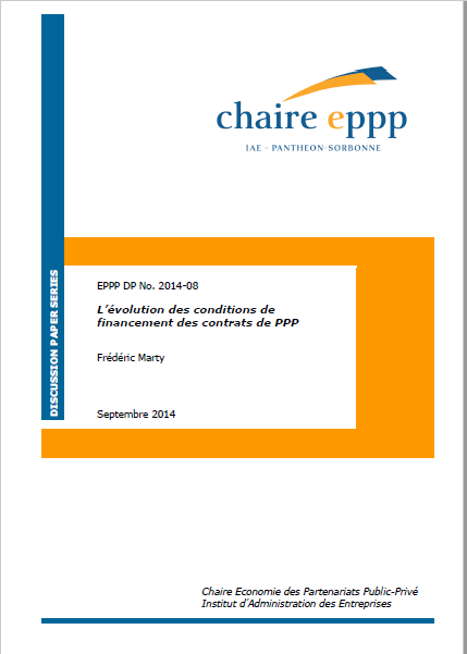 Cover of LEVOLUTION DES CONDITIONS DE FINANCEMENT DES CONTRATS DE PPP  PPP