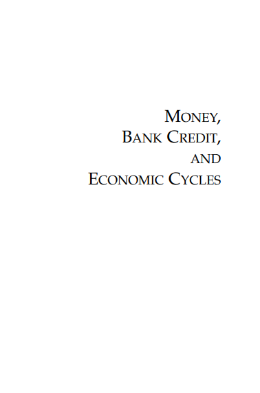 Cover of MONEY BANK CREDIT AND THE ECONOMY CYCLES