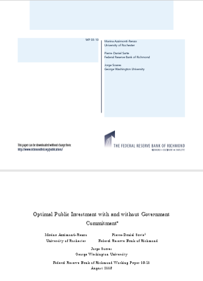 Cover of OPTIMAL PUBLIC INVESTMENT