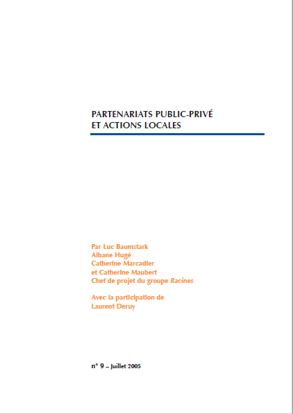 Cover of PARTENARIATS PUBLIC PRIVE ET ACTIONS LOCALES