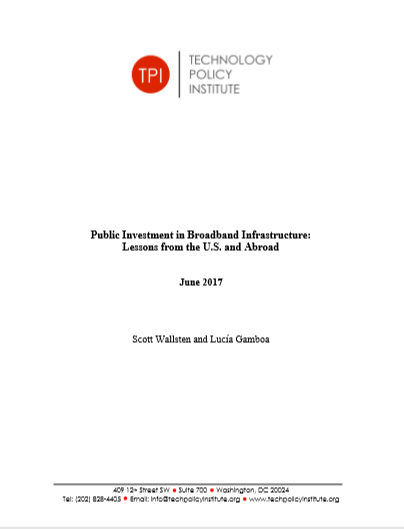 Cover of PUBLIC INVESTMENT IN BROADBAND INFRASTRUSTURE