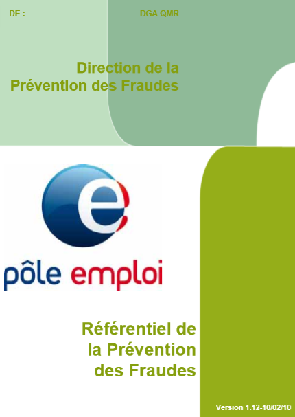 REFERENTIEL DE LA PREVENTION DES FRAUDES