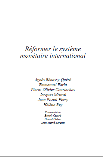 REFORMER LE SYSTEME MONETAIRE INTERNATIONAL