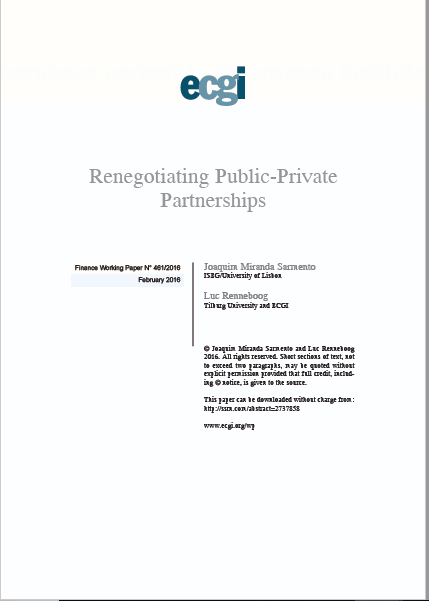 RENEGOCAITION PUBLIC PRIVATE PARTNESRHIPS