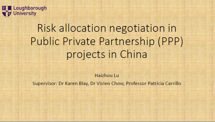 RISK ALLOCATION NEGOCIATION IN PUBLIC PRIVATE PART...