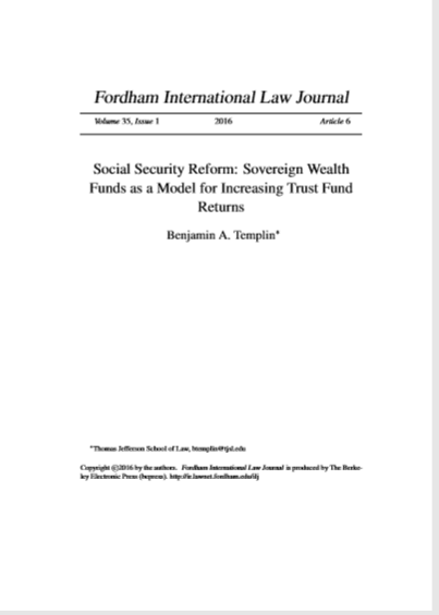 Cover of SOCIAL SECURITY REFORM