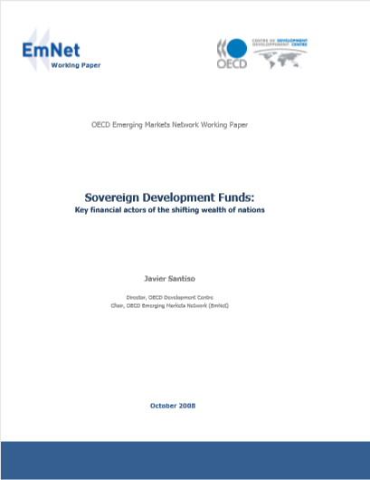 Cover of SOVEREIGN DEVELOPMENT FUNDS