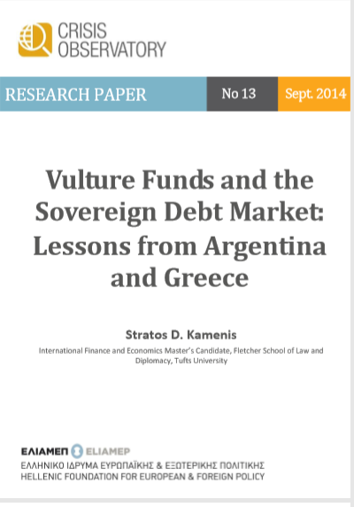 VULTURES FUNDS AND THE SOVEREIGN  DEBT MARKET